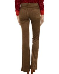 Goldsign - Brown Elan Mid-rise Flared Corduroy Jeans - Lyst