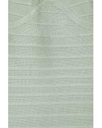 Hervé Léger - Green Multistrap Bandage Dress - Lyst