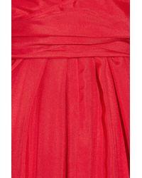 Issa - Red Silk-satin Kimono Maxi Dress - Lyst