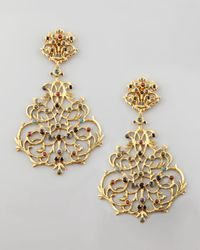 Jose & Maria Barrera | Metallic Multicolor Lace Earrings | Lyst