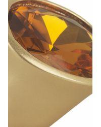 Kenneth Jay Lane - Metallic Goldtone Crystal Ring - Lyst
