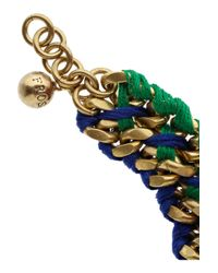 Lulu Frost - Green Thread Woven Chain Bracelet - Lyst