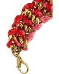 Lulu Frost - Red Threadwoven Chain Bracelet - Lyst