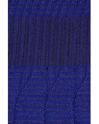 M Missoni - Blue Crochet-knit Cotton-blend Mini Dress - Lyst