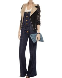 M Missoni - Blue Cotton and Linenblend Dungarees - Lyst