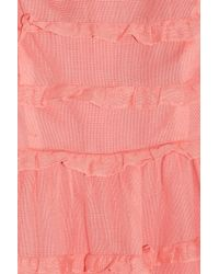 Marc By Marc Jacobs - Purple Salmon Cotton Tiered Strapless Dea Dress - Lyst