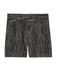 MILLY | Black Tweed Shorts | Lyst