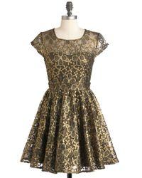 ModCloth | Pink Golden Garden Dress | Lyst