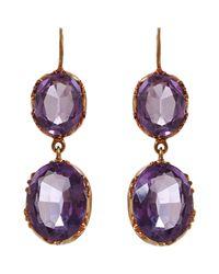 Olivia Collings | Purple Earrings | Lyst