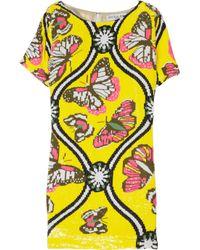 Paul & Joe | Yellow Mariposa Sequined Mini Dress | Lyst