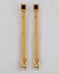 Rachel Zoe - Metallic Snake Chain Drop Earrings - Lyst