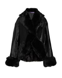 Ralph Lauren Collection | Black Adele Shearling Jacket | Lyst