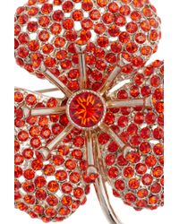 Sonia Rykiel | Orange Crystalembellished Flower Brooch | Lyst