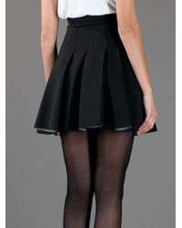 T By Alexander Wang | Black Pleated Skirt | Lyst