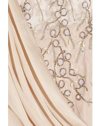 Temperley London | Natural Fern Silk-chiffon and Embellished Tulle Gown | Lyst