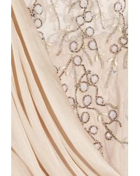 Temperley London - Natural Fern Silk-chiffon and Embellished Tulle Gown - Lyst