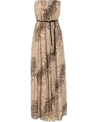 Tibi | Multicolor Leopard-print Silk-chiffon and Lurex Maxi Dress | Lyst