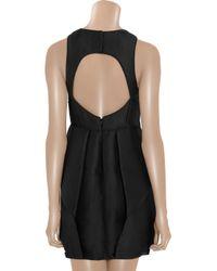 Tibi - Black Jacquard Ruffled Dress - Lyst