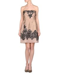 Valentino | Pink Short Dress | Lyst