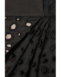 Vionnet - Black Cotton Eyelet Skirt - Lyst