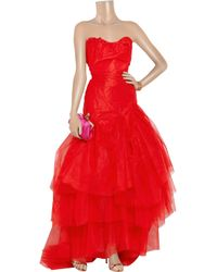 Vivienne Westwood Gold Label | Paper Bag Tiered Silktaffeta and Tulle Gown | Lyst