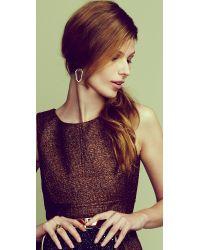 Alexis Bittar - Brown Miss Havisham Crystal Encrusted Shield Earrings - Lyst