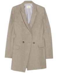Boy by Band of Outsiders - Gray Linen-blend Flannel Jacket - Lyst