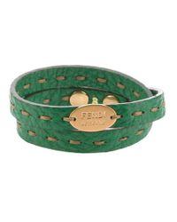 Fendi | Green Selleria Bracelet | Lyst