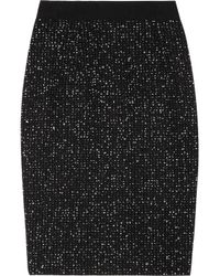 Giambattista Valli | Black Bouclé-tweed Pencil Skirt | Lyst