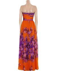 Giambattista Valli | Multicolor Floral-print Silk-chiffon Gown | Lyst