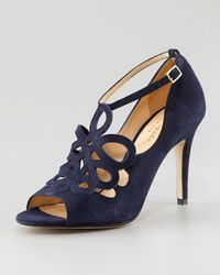 kate spade new york - Blue Immie Cutout Shoe Bootie - Lyst