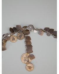 Lanvin | Metallic Double Coin Chain Necklace | Lyst