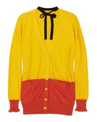 Sonia by Sonia Rykiel - Yellow Cotton and Cashmere-blend Cardigan - Lyst