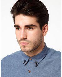 ASOS - Black Asos Cross Collar Pins for Men - Lyst