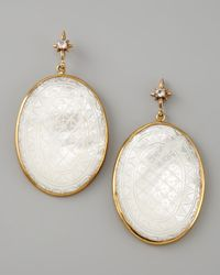 Stephen Dweck | White Etched Mother Of Pearl Drop Earrings | Lyst
