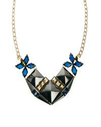 ASOS - Blue Midnight Stud Necklace - Lyst
