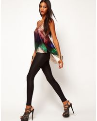 ASOS Collection | Multicolor Asos Cami with Ombre Sequin Print and Dipped Back | Lyst