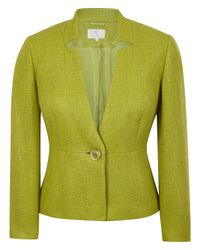 Cc   Green Elegant Tailored Jacket Cut From Textured Fabric   Lyst