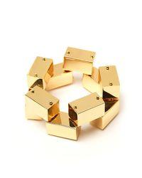 Robert Lee Morris | Metallic Block Link Bracelet | Lyst