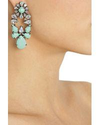 Shourouk - Metallic Mia Silverplated Swarovski Crystal Earrings - Lyst