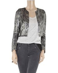 Stella McCartney - Metallic Cropped Sequin-embellished Crepe Jacket - Lyst