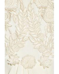 Temperley London | White Laelia Floralappliquéd Silk Crepe De Chine Gown | Lyst