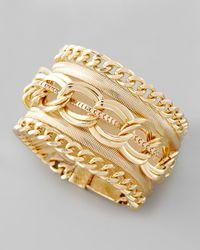 Cara | Metallic Multichain Magnetic Bracelet | Lyst