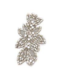 Jenny Packham | Metallic Acacia Bracelet - Crystal | Lyst