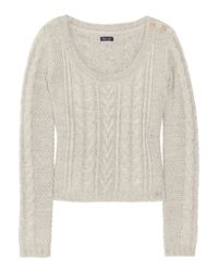 Splendid | Natural Cable-knit Sweater | Lyst