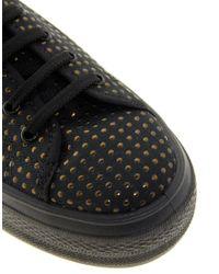 ASOS - Black Dino Flatform Sneakers - Lyst