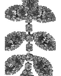 Elizabeth Cole - Gray Hematite Plated Swarovski Crystal Earrings - Lyst