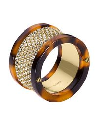 Michael Kors | Metallic Tortoise Pave Ring | Lyst