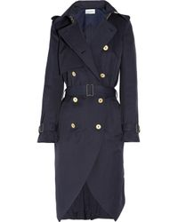 Saint Laurent | Black Cotton-gabardine Trench Coat | Lyst