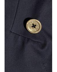 Saint Laurent - Black Cotton-gabardine Trench Coat - Lyst